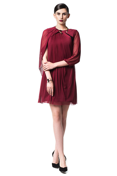 Draped N Dress - 100% natural silk