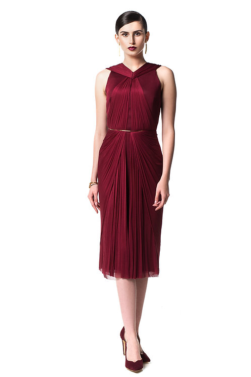 Classic/ Low-Cut Reflection Dress - 100% silk