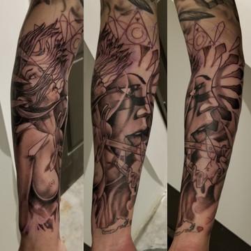 Naked Woman Tattoo by David Baran