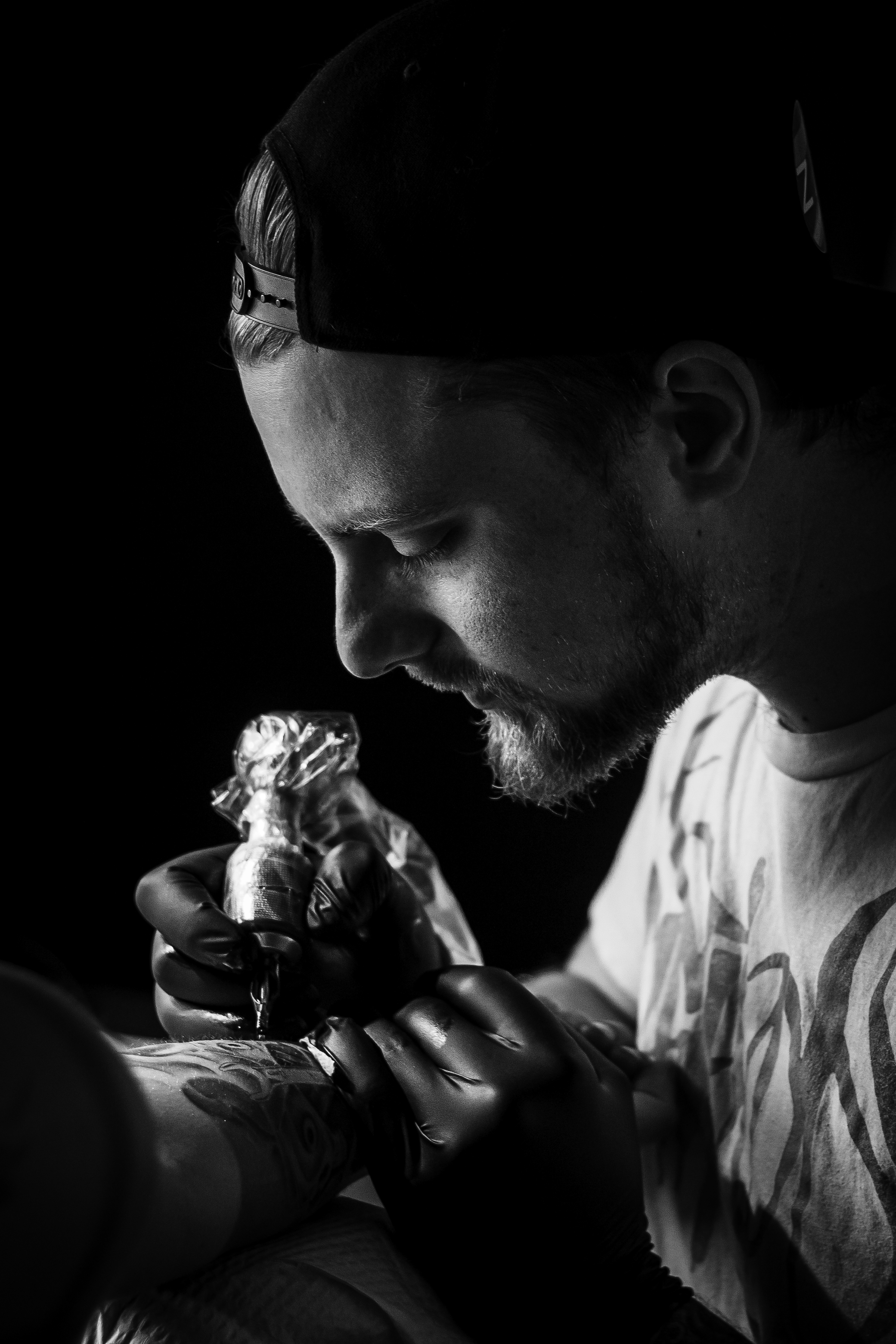 Tattoo Artist Portrait BnW