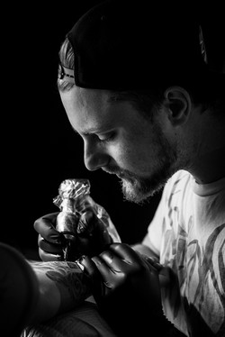 Tattoo Artist Portrait BnW