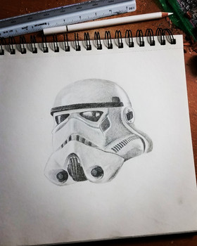 Storm trooper design by Larissa Long