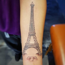 Eiffel tower Tattoo by Larissa Long