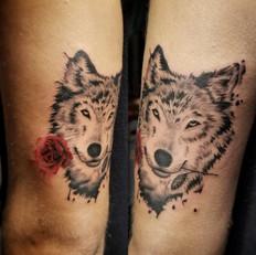 Wolf Tattoo by Larissa Long
