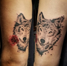 Wolf Tattoo by Larissa Long