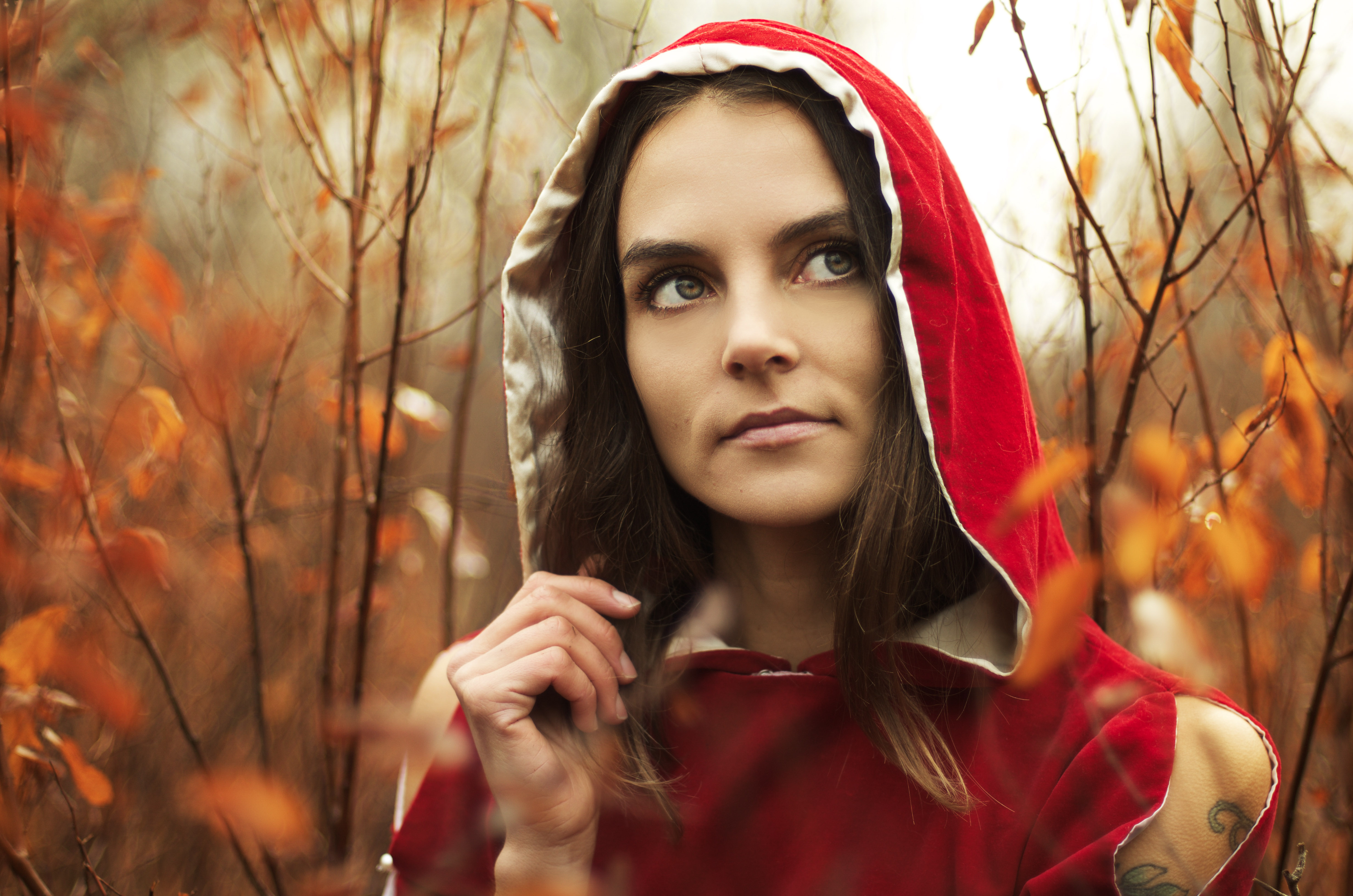 Red Riding Hood in Autumn Portrait