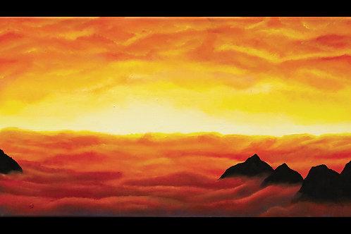 """A Chili Sky"" Original Acrylic Painting"