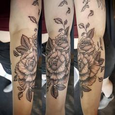 Roses and Bird Tattoo Larissa Long