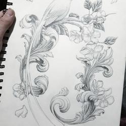 Bird Tattoo Design by Larissa Long