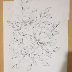 Peony Drawing for Hip Thigh Tattoo Larissa Long