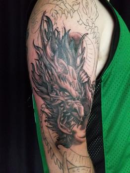 Dragon Coverup Tattoo - David Baran