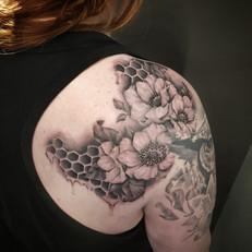 Realistic Flower Tattoo by Larissa Long