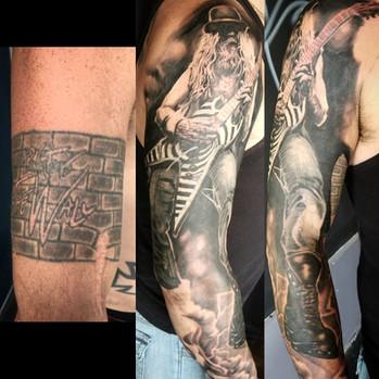 Zakk Wylde Portrait Tattoo by David Baran