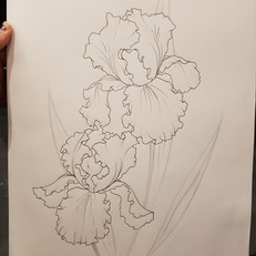 Iris drawing for tattoo by Larissa Long