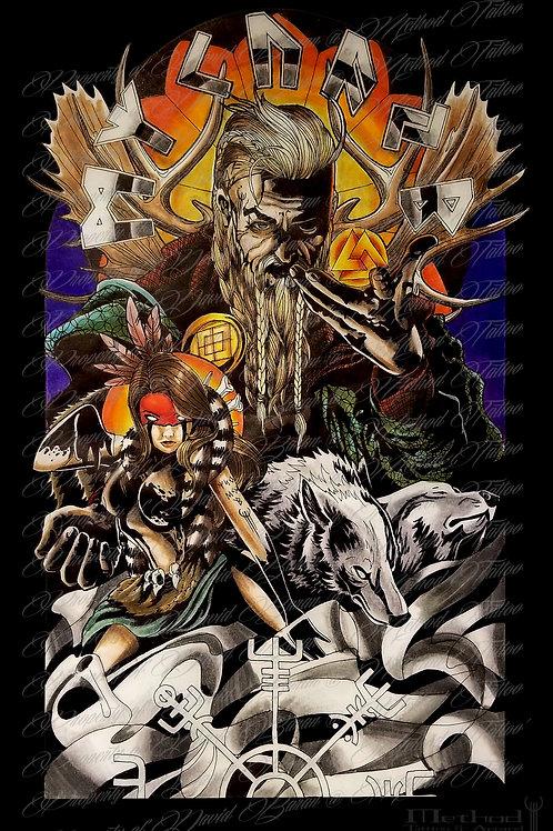 Odin [print] by David Baran