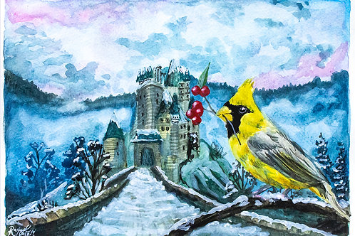 Winter Castle Christmas Card