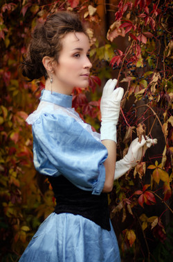 Victorian Girl with Vines Portrait