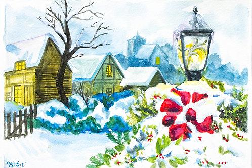 Lantern Christmas Card