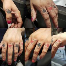 Finger Tattoos by Larissa Long