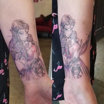 Zelda Tattoo by David Baran