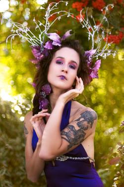 Crystal Antler Bush Goddess Portrait