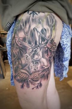 Jackalop Tattoo by David Baran