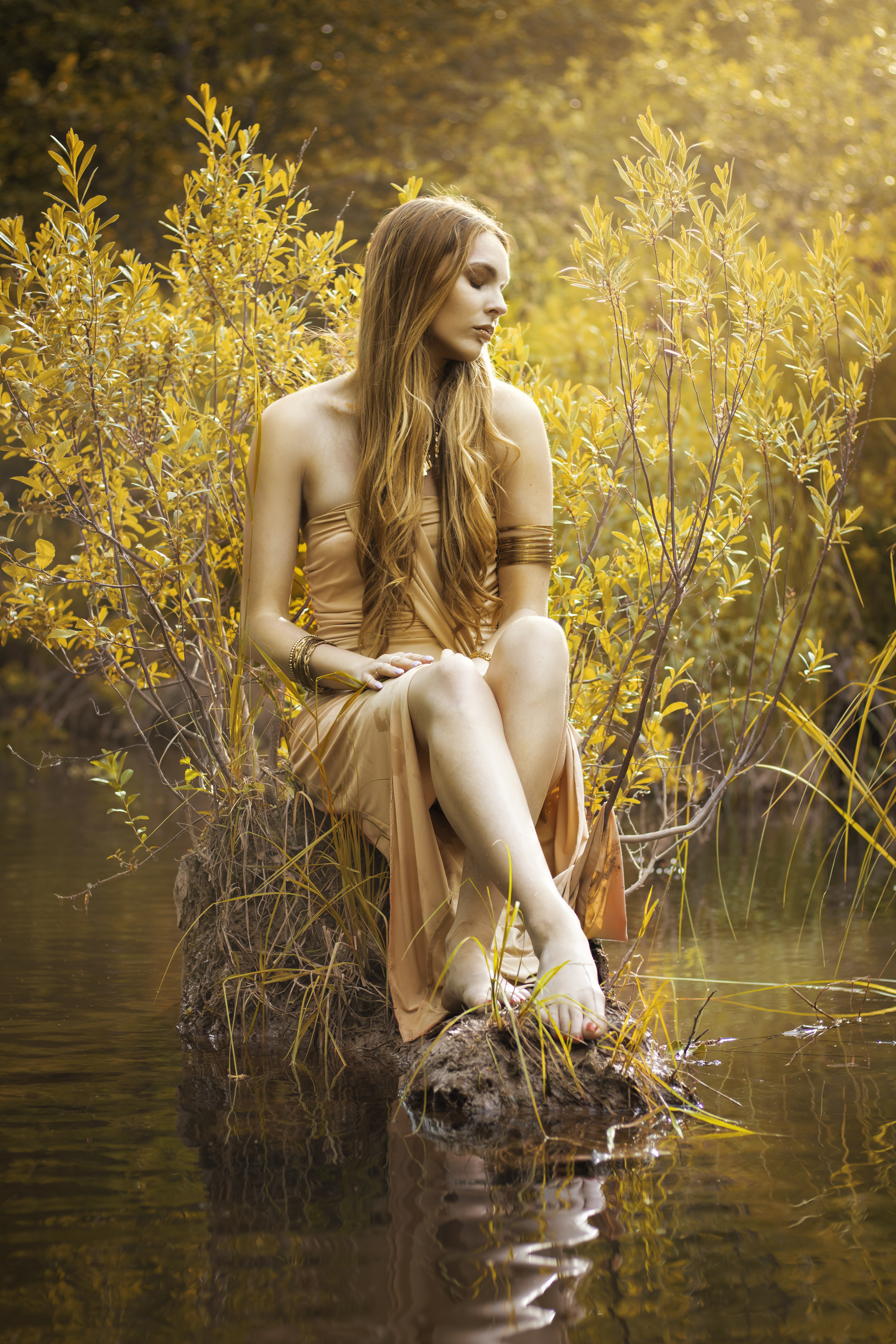 Golden Lake Goddess Portrait 1