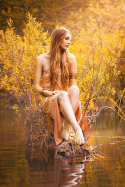 Golden Lake Goddess Portrait 1