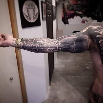 Realistic Axe tattoo by David Baran