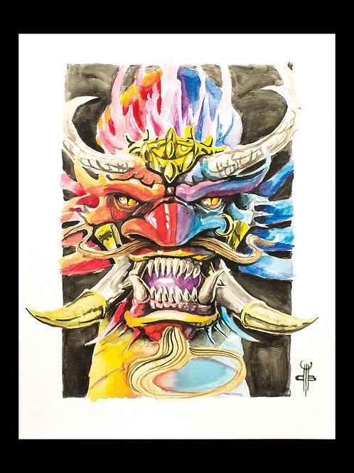 Watercolour Genie Dragon Print