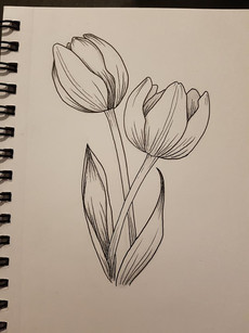 Simple tulips design by Larissa Long
