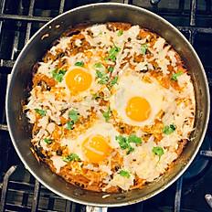 Huevos Rancheros con habichuelas negras - para 2 personas - Itbis incluido