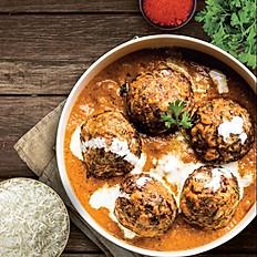 Albóndigas al curry con arroz Basmati - para 2 personas - Itbis incluido