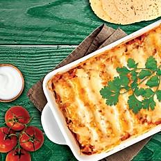 Enchiladas en salsa de queso cheddar - para 2 personas - Itbis incluido