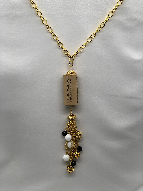Black & White Wine Cork Necklace