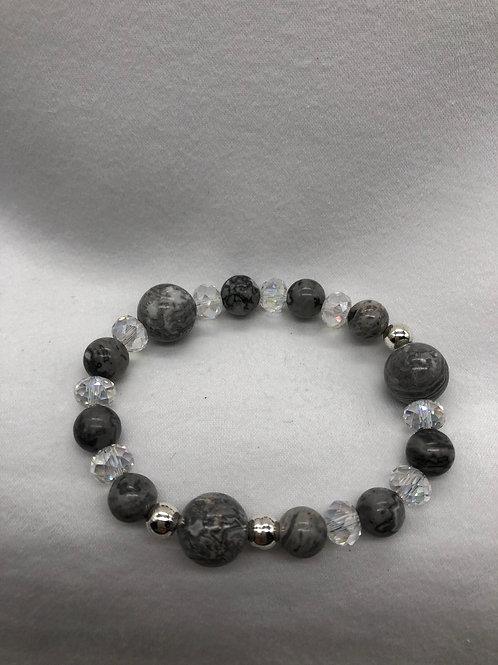 Gray & Silver tone Bracelet