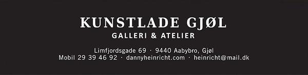 Kunstlade Gjøl logo og adresselinie anno