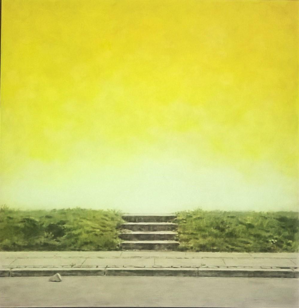 Surrealistisk trappe med fragment uden titel