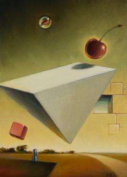"""""""Pyramide med røde objekter"""""""
