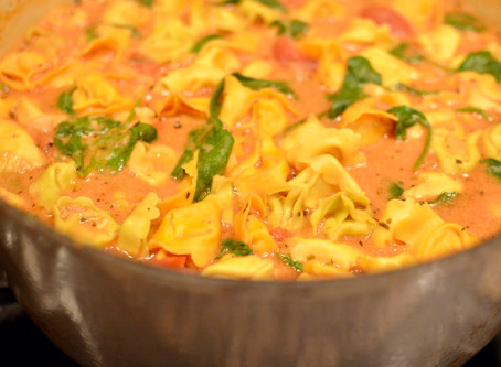 Creamy Tortellini Soup with Spinach
