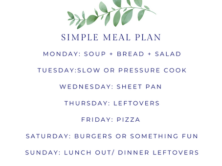 4 Steps to Simplify Meal Planning