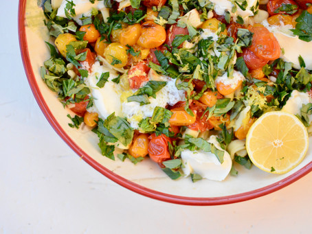 Burst Tomato Mascarpone and Herb Tortellini