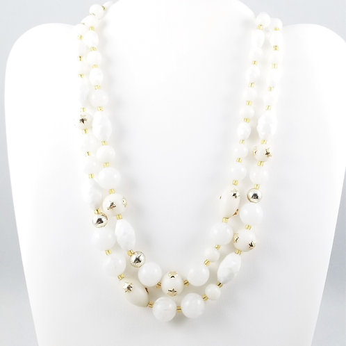 1950's W. German Glass & Resin Bead Necklace