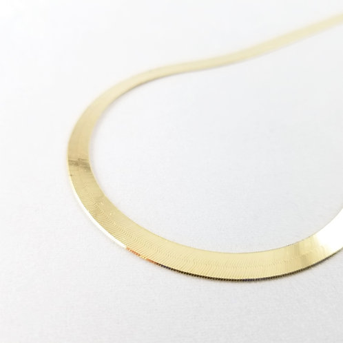 "14k Liquid Gold Tight Herringbone Chain 20"""