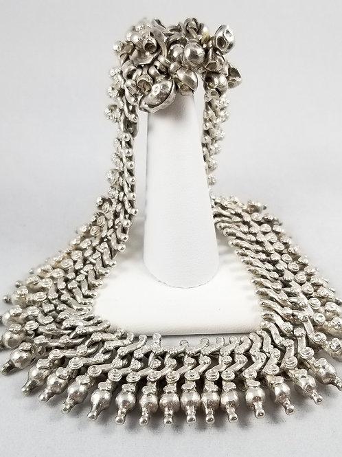 Heavy Sterling Silver Art Deco Thai Wedding Anklet