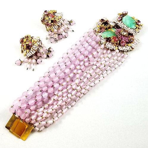 RARE Miriam Haskell Earring & Bracelet Set