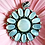 Thumbnail: Sterling Silver & Mother of Pearl Flower Pendant