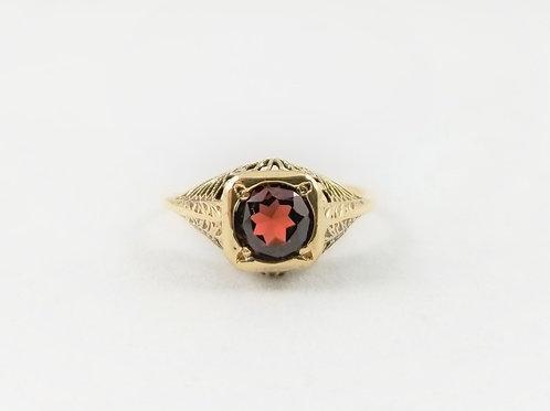 9k Victorian Garnet Ring SOLD