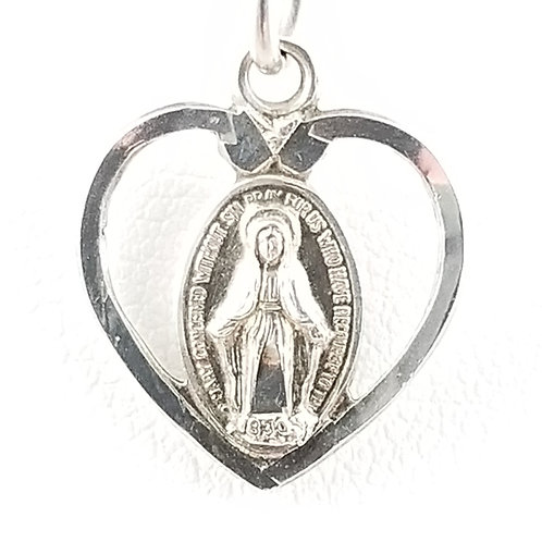 Vintage Miraculous Miracle Heart Pendant