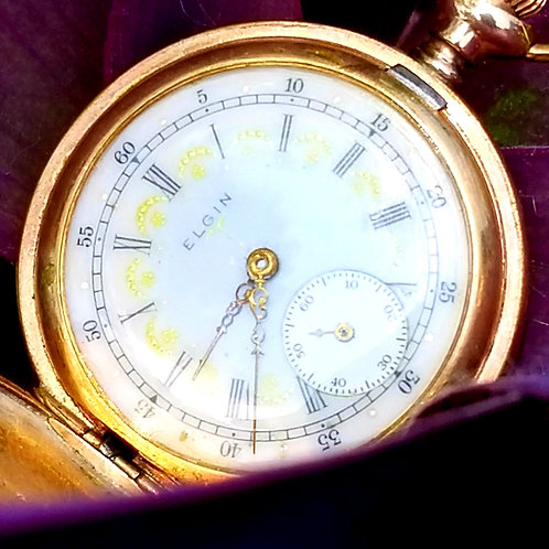 10k Antique Elgin 15 Jewel Ladies Pocket Watch